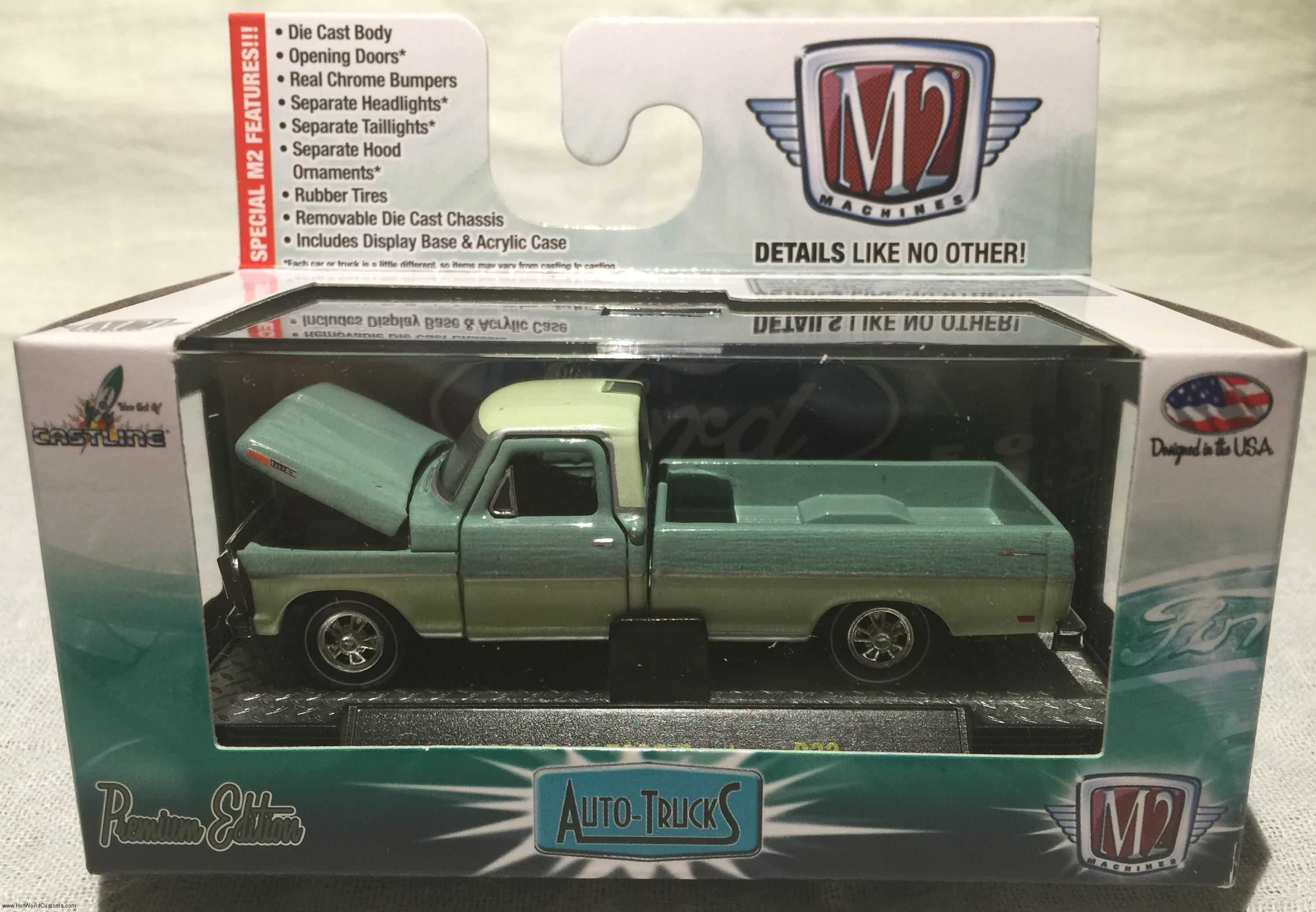 Out Of The Box M2 Machines Auto Trucks Release 32 Hot World Customs 1969 Ford Econoline Van 1965 Camper Tropical Turquoise W Interior